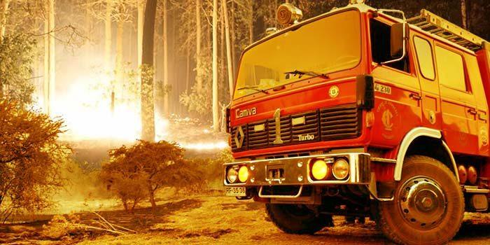 Estado de incendios forestales relevantes en la Sexta Región