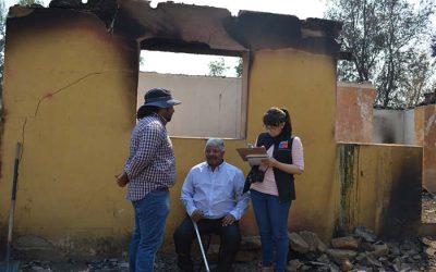 Gobierno avanza en catastro de viviendas destruidas por incendios forestales en la Región