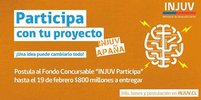 Injuv lanza fondo concursable #participa2017 por 800 millones de pesos