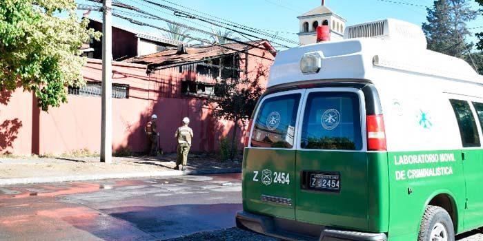 carabineros Incendio afectó dependencias del Pequeño Cottolengo e iglesia Cristo Rey de Rancagua