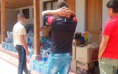 Jóvenes y funcionarios del centro de justicia juvenil de Rancagua entregan ayuda a afectados por incendios forestales