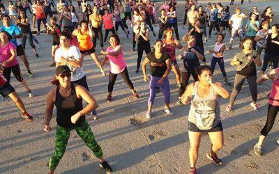 Rancaguinos participaron en la Zumba por la vida saludable