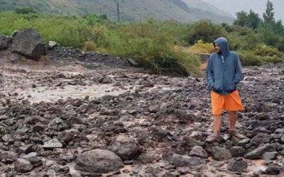Reportes de emergencias por lluvias en la precordillera