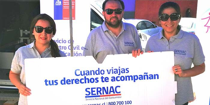Sernac llama a respetar los derechos de los turistas