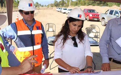 Autoridades visitaron avances de obra del mejoramiento de la ruta 90