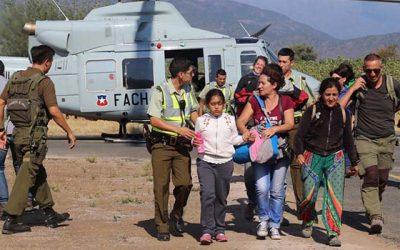 Continúan evacuaciones desde Termas del Flaco