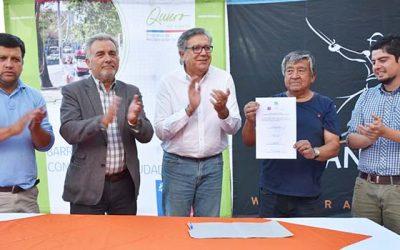 Entregan terrenos a empresa para mejoramiento de calle Los Olivos