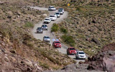 Exitosa primera bajada de vehículos desde Termas del Flaco