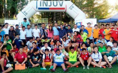 Futbolistas de OHiggins participan en clínica deportiva del Injuv en Placilla