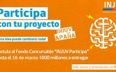 Injuv reactiva fondo concursable por 800 millones de pesos