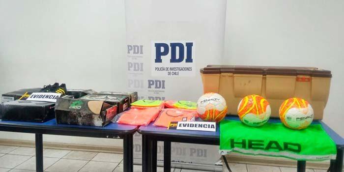 PDI esclarece robo que afectó a centro deportivo en Quinta de Tilcoco