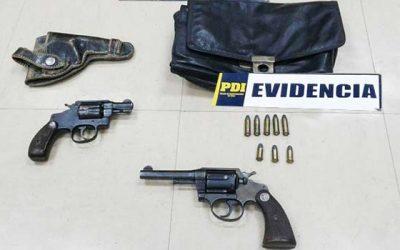 PDI incauta armas de fuego en San Vicente de Tagua Tagua