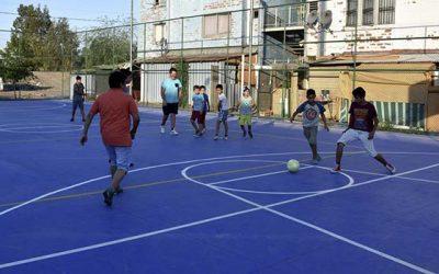 Vecinos de San Fernando celebran su nueva multicancha