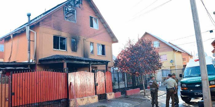 carabineros Incendio deja un muerto en villa Conavicoop de Rancagua