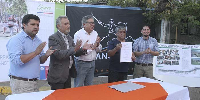 Comienzan trabajos que cambiará la cara a calle Los Olivos de población Santa Filomena de Rancagua
