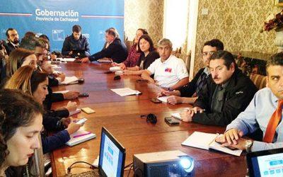Comité operativo PDA de servicios públicos y municipios se reúnen en Rancagua