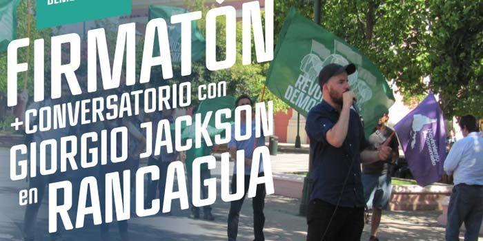 Giorgio Jackson estará Rancagua en la recolección de firmas para conformarse como partido en la Región
