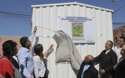 Inauguran casetas sanitarias para personas en situación de calle de Rancagua