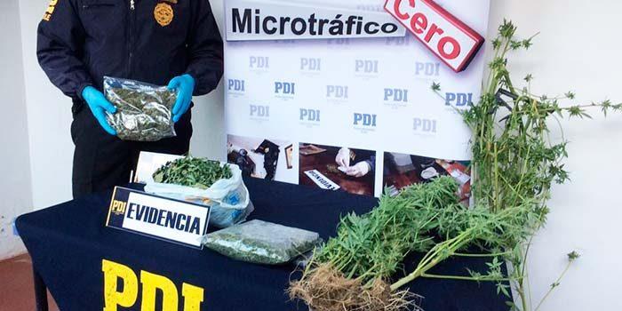 PDI desbarata foco de microtráfico en Peralillo
