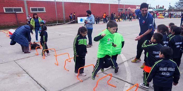 Pequeñitos de Placilla participaron en gran encuentro deportivo del Mindep