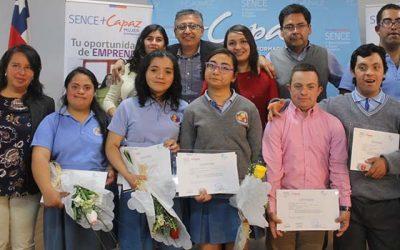 Alumnos MásCapaz Discapacidad se certifican de curso operador de packing en Pichidegua