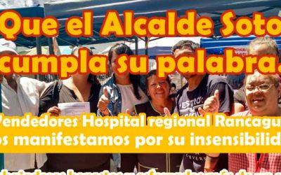 Comerciantes de las afueras del Hospital Regional llaman a protestar frente al municipio de Rancagua