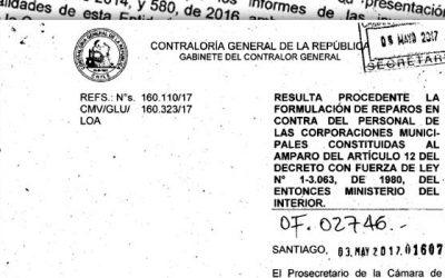 Contraloría General de la República confirma juicio de cuentas contra presidente de la Corporación Municipal de San Fernando