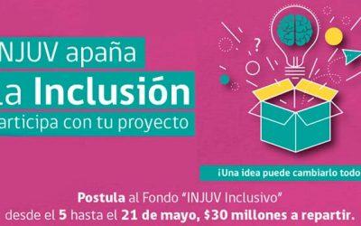Injuv llama a postular al nuevo fondo inclusivo 2017