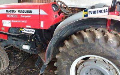 PDI detiene a dos personas por robo de tractor