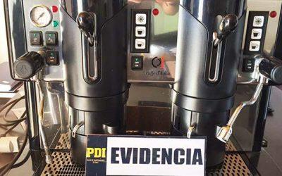 PDI detiene a sujeto por receptación de cafetera industrial