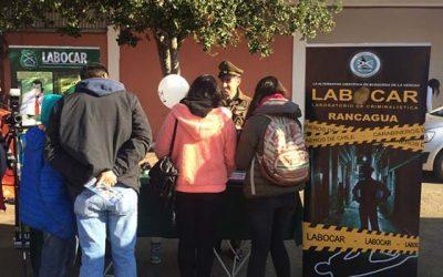 Sección criminalística de Rancagua participa en feria estudiantil de San Vicente