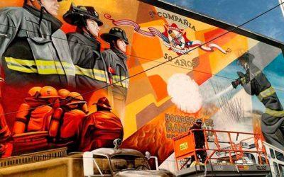 Bomberos de Rancagua contará con mural que conmemora los 50 años de fundación de la Quinta Compañía