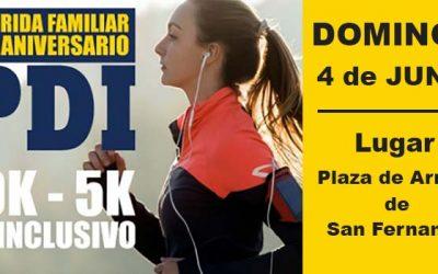 PDI San Fernando invita a corrida familiar por aniversario 84