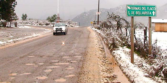 5000 clientes sin suministro eléctrico en la Sexta Región a causa de la nieve