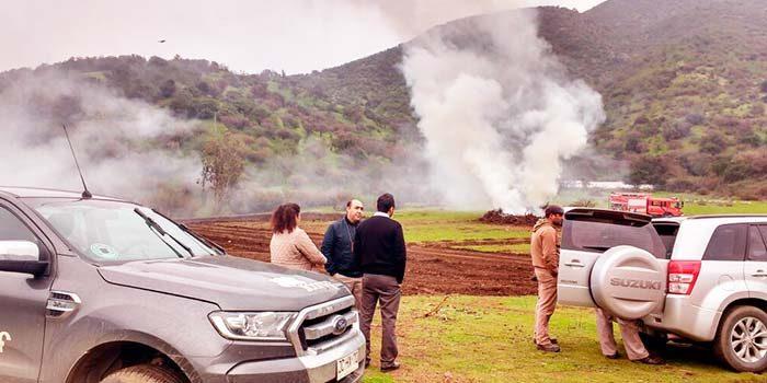 Dos detenidos por quema ilegal en San Vicente de Tagua Tagua