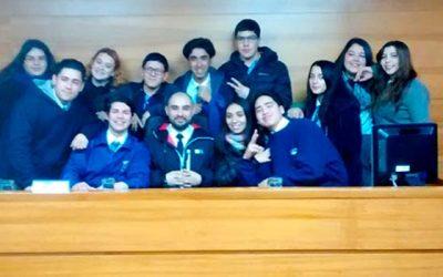 Estudiantes de liceo de Machalí visitaron Tribunal Oral en lo Penal de Rancagua