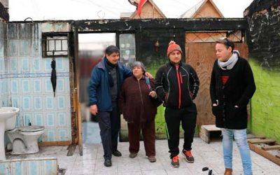 Gobierno construirá las casas para damnificados de incendio en Graneros