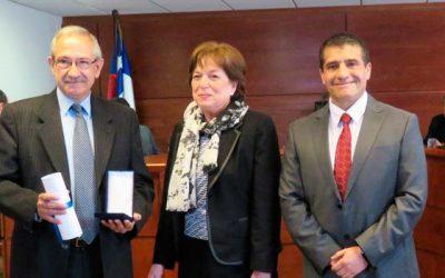 Corte de Apelaciones de Rancagua entregó medalla Relevant Merita a jurista español