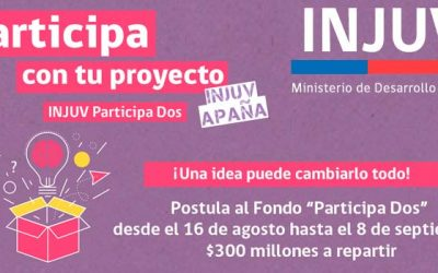 Injuv lanza fondo concursable por 300 millones de pesos para financiar proyectos juveniles