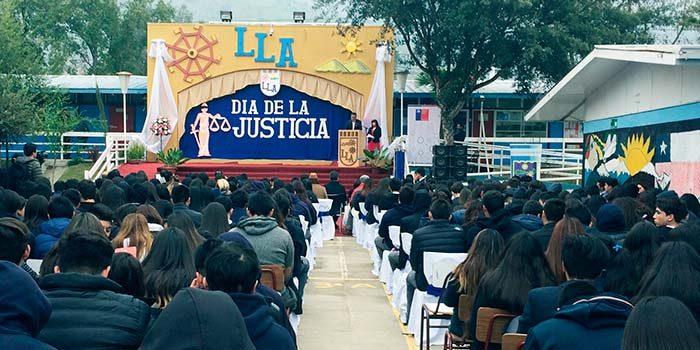 Juzgado de letras y familia de san vicente participa en for Juzgado de letras