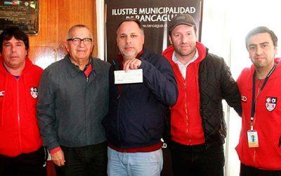 Municipio de Rancagua entrega recursos a clubes de tercera división