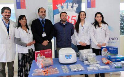 Municipio de Rengo entrega 68 millones de pesos en insumos y box de atención dental a hospital