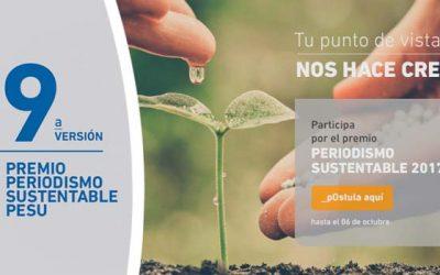Novena versión del concurso que premia los mejores trabajos periodísticos sobre sustentabilidad del país