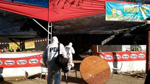 PDI investiga disparos por arma de fuego al interior de una fonda en Rancagua