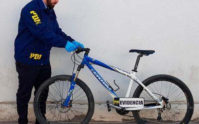 PDI recupera bicicleta avaluada en más de un millón de pesos