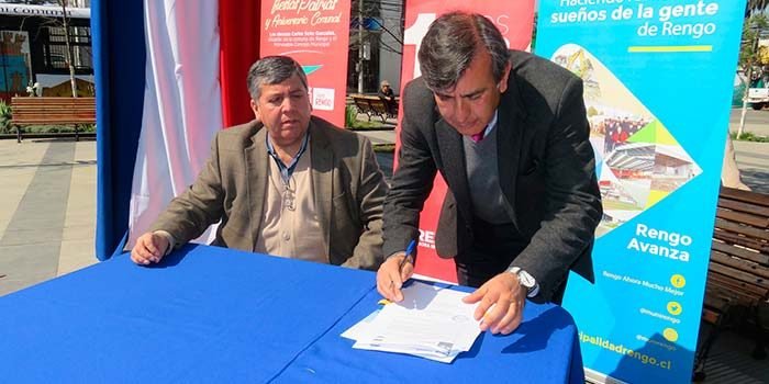 Sernatur municipio de Rengo firman convenio para el fortalecimiento de oficina turística local