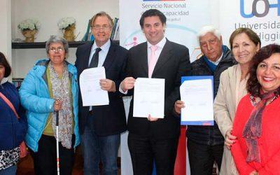 Universidad de OHiggins firma convenio de colaboración con el Senadis regional
