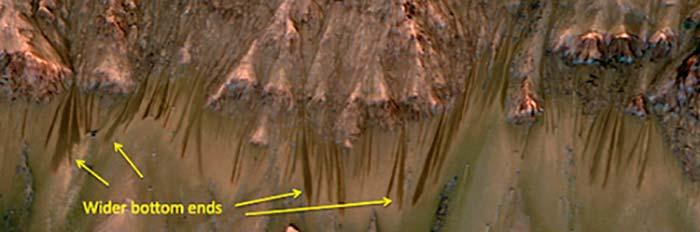 agua líquida en el planeta Marte