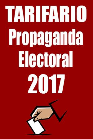 Tarifario Propaganda Electoral 2017