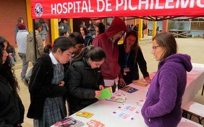 Hospital de Pichilemu y Departamento de Salud Municipal promueven alimentación saludable en Liceo Agustín Ross
